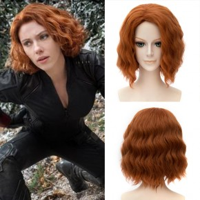 Marvel Movie Avengers 2 Age of Ultron Black Widow Orange Wig