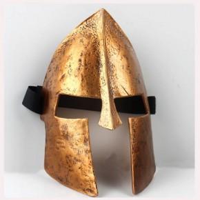 Movie Spartan 300 Warrior Gloden Mask Full Face Cosplay Helmet