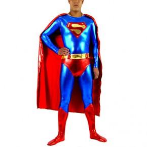 Shiny Metallic Superman's Spandex Zentai