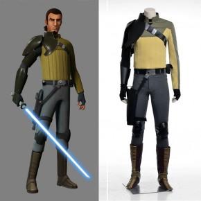 Disney Anime Star Wars Rebels Kanan Jarrus Cosplay Costume Suits