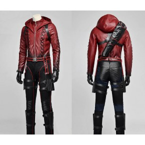 Green Arrow Season 3 Red Arrow Roy Harper Cosplay Costume Red Coat Outfit Uniform