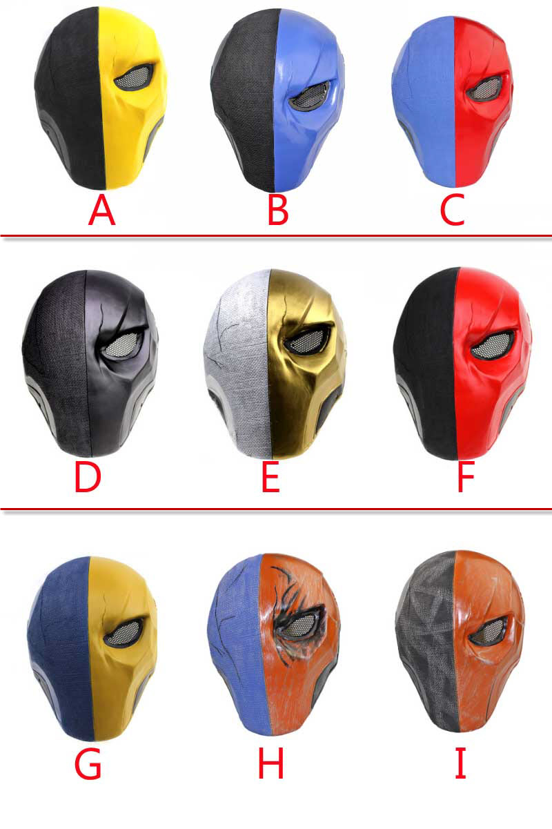 Anime Deathstroke Cosplay Mask Colors