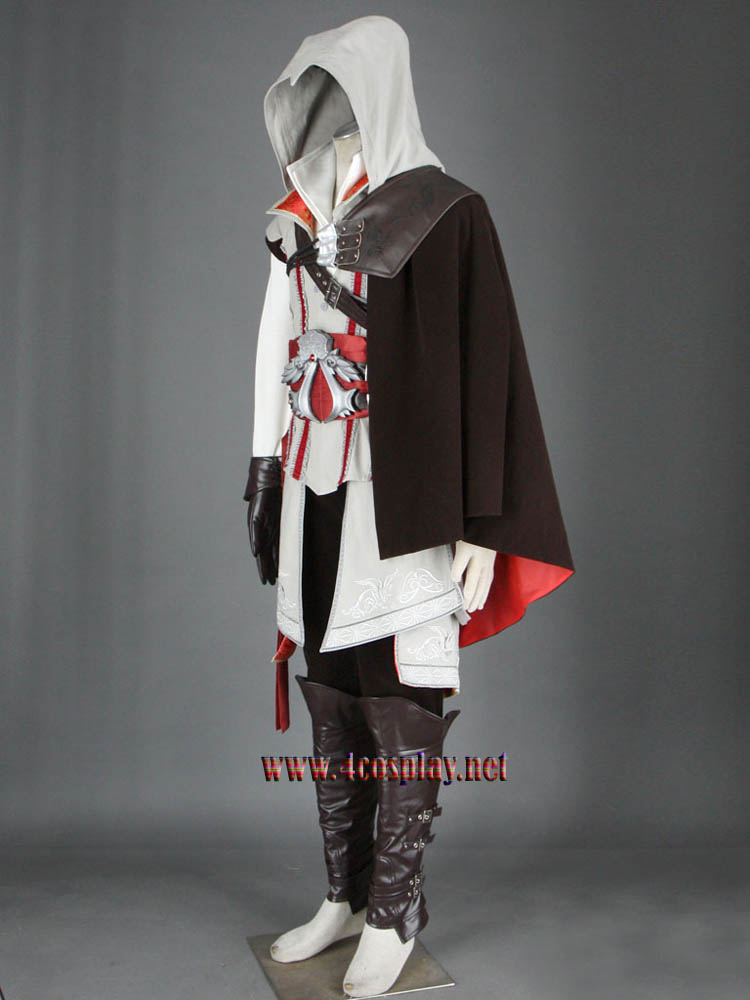 Assassin's Creed II 2 Ezio Auditore Da Firenze Cosplay Costume Outfit