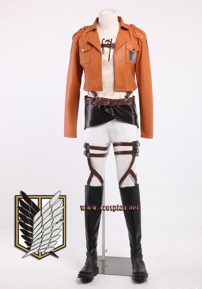 Attack on Titan Recon Corps Eren Jaeger Cosplay Costume