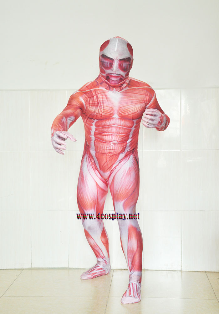 Attack on Titan Colossal Titan Full Body Cosplay Zentai