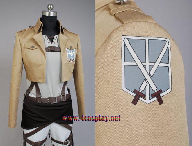 Attack on Titan Shingeki no Kyojin Eren Jaeger Cosplay Costume