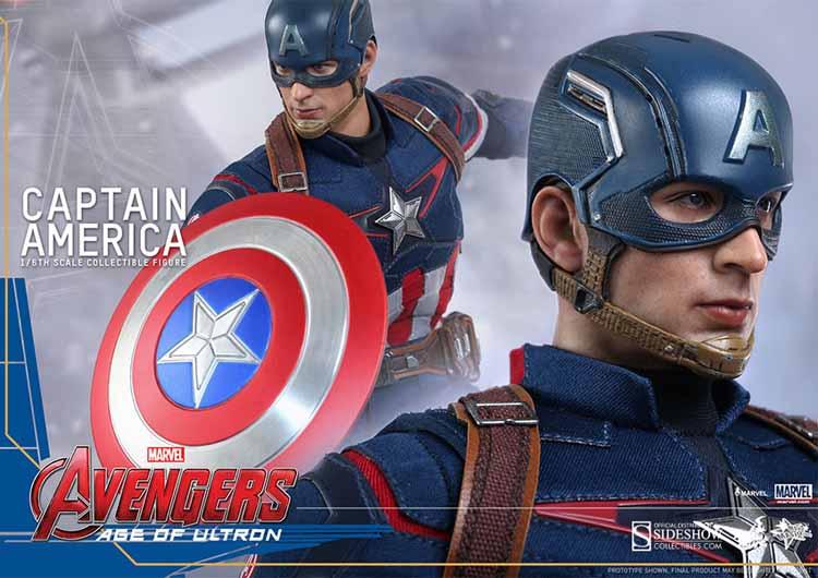 Mavel Movie Avengers Age of Ultron Captain America Cosplay Costume