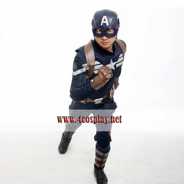Captain America 2 Winter Soldier Cosplay Costume S.h.i.e.l.d. Stealth Jumpsuit