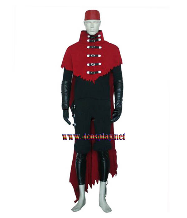 Final Fantasy VII 7 Vincent Valentine Cosplay Costume Outfit