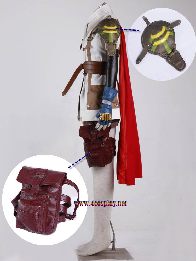 Final Fantasy XIII Lightning Eclair Farron Cosplay Costume Outfit