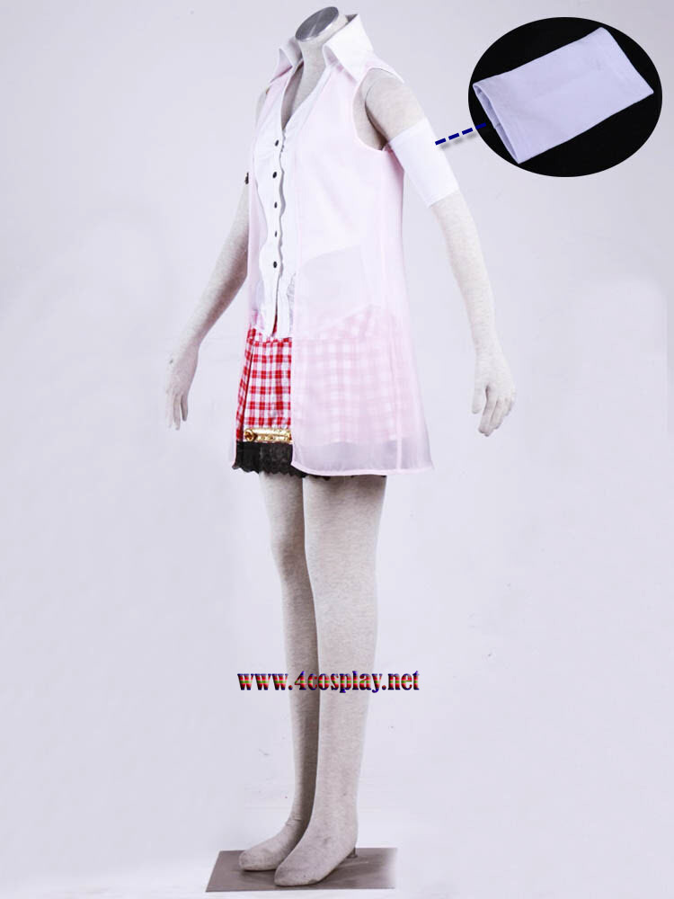 Final Fantasy XIII Serah Farron Cosplay Costume Outfit Dress