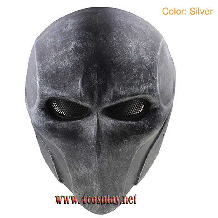 GRP Mask Anime Deathstroke Mask Deathstroke Cosplay Mask Glass Fiber Reinforced Plastics Mask
