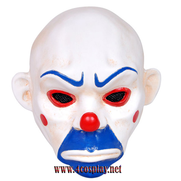 GRP Mask Movie Batman Dark Knight Cosplay Mask Clown Robbers Mask Glass Fiber Reinforced Plastics Mask