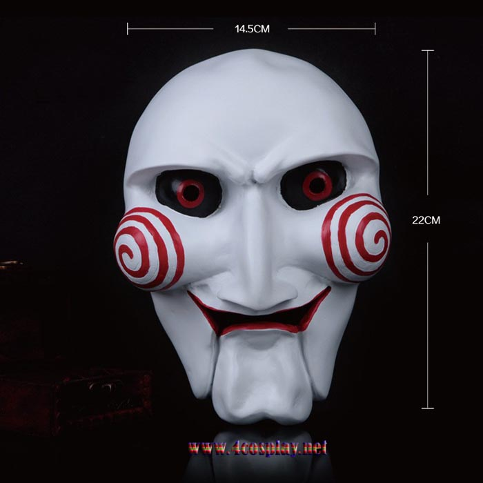 GRP Mask Movie Saw Cosplay Mask Scary Billy Horror Mask Glass Fiber Reinforced Plastics Mask
