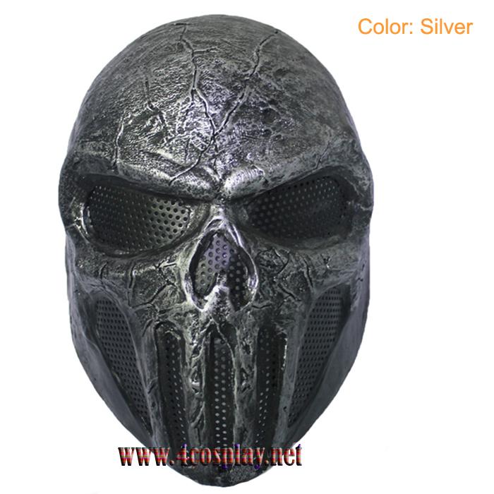 GRP Mask Movie The Punisher Horror Mask Frank Castle Cosplay Mask Glass Fiber Reinforced Plastics Mask