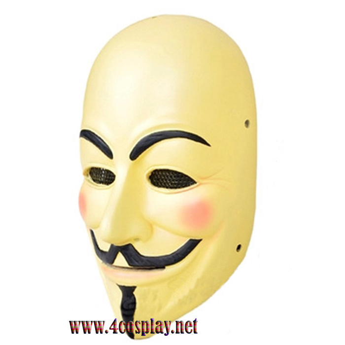 GRP Mask Movie V for Vendetta Mask Guy Fawkes Cosplay Mask Glass Fiber Reinforced Plastics Mask