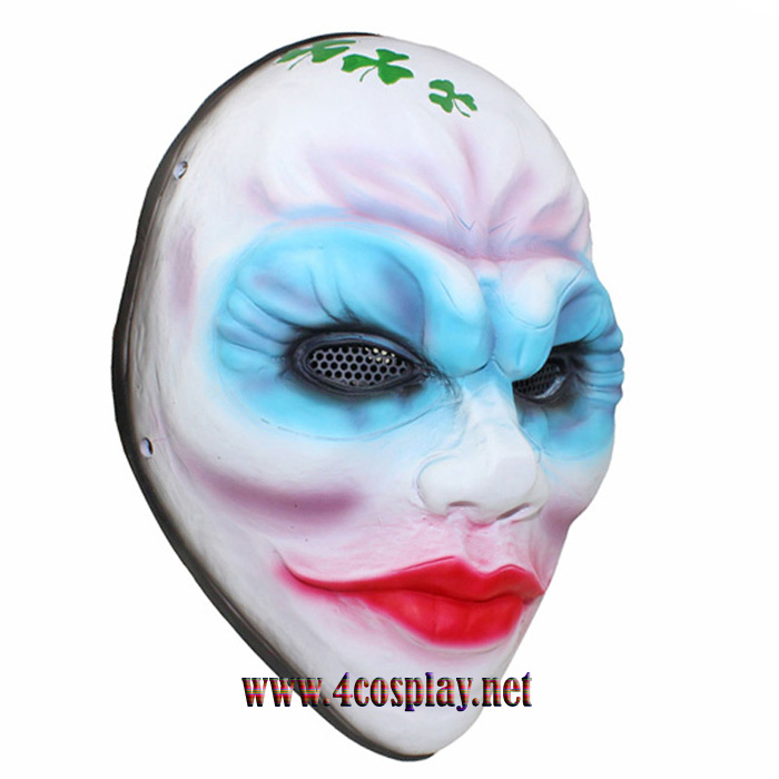 Payday 2 Female Heist Clover Mask Female Robber Horror Mask Glass Fiber Reinforced Plastics Mask