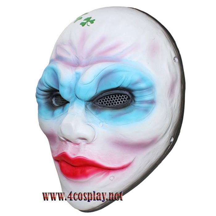 Payday 2 Female Heist Clover Mask Female Robber Horror Mask Glass Fiber Reinforced Plastics Mask