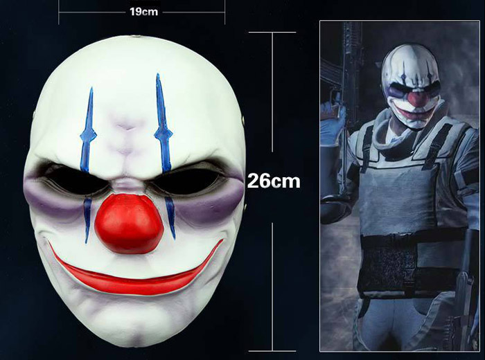 Game Payday 2 Mask The Robbers Dallas/Wolf/Chains/Hoxton Cosplay Mask