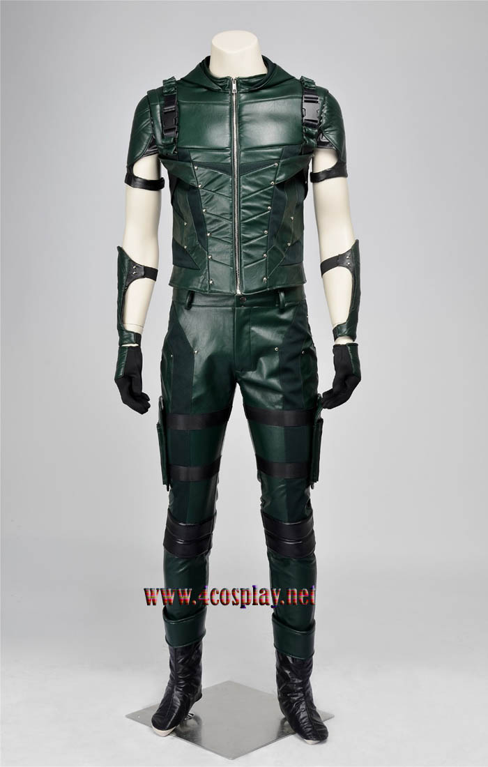 Green Arrow Season 4 Oliver Queen Cosplay Hoodie & Green Arrow Season 4 Oliver Queen Cosplay Hoodie Costume Outfit