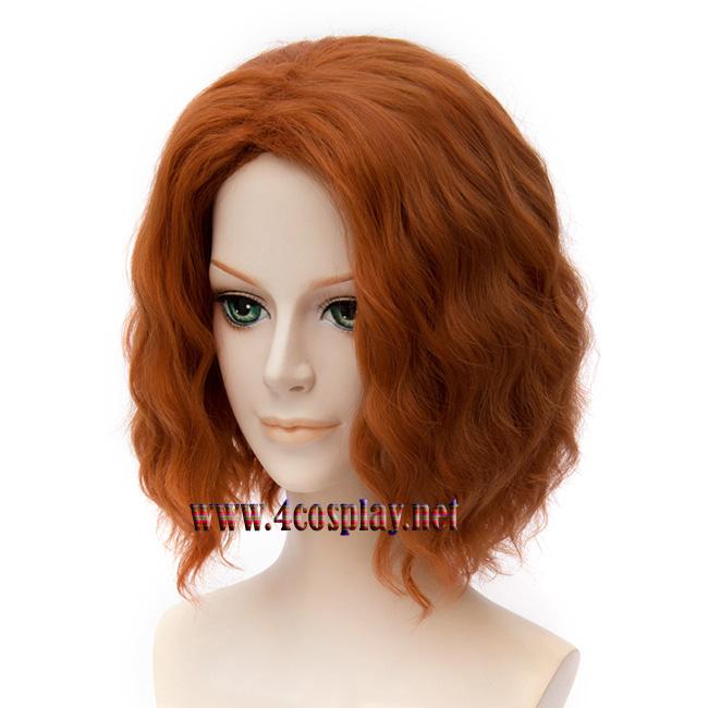 Mavel Movie Avengers 2 Age of Ultron Black Widow Orange Wig
