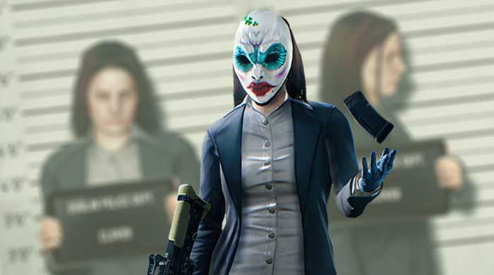 Payday2 Female Robber Horror Mask
