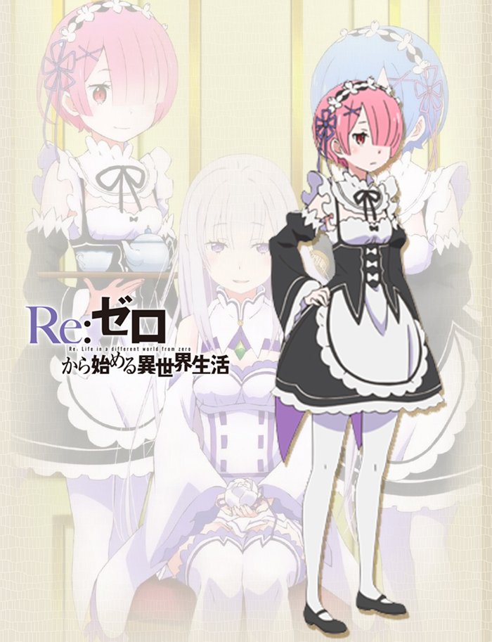 Re:Life in a different world from zero Cosplay Costume ラム Ram Costume Maid Clothing