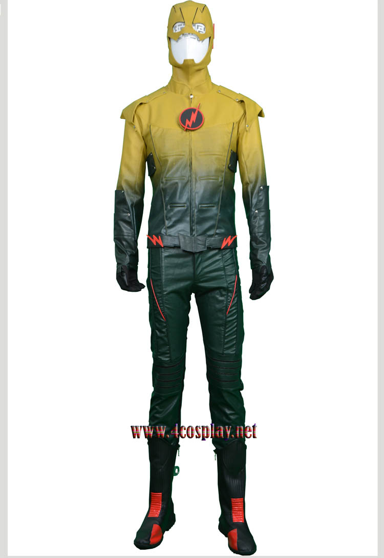 The Flash Cosplay Reverse Flash Cosplay Leather Clothing Costume