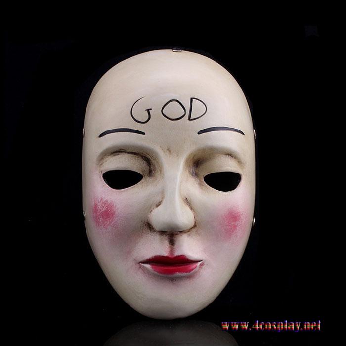 The Purge Movie God Mask Cross Mask Smile Mask