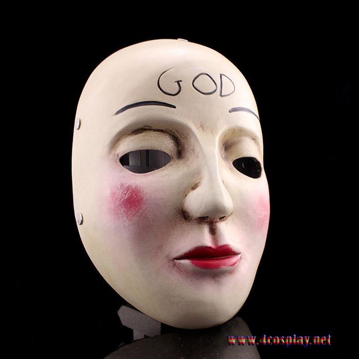 The Purge Movie God Mask Cross Mask Smile MaskThe Purge Movie God Mask Cross Mask Smile Mask
